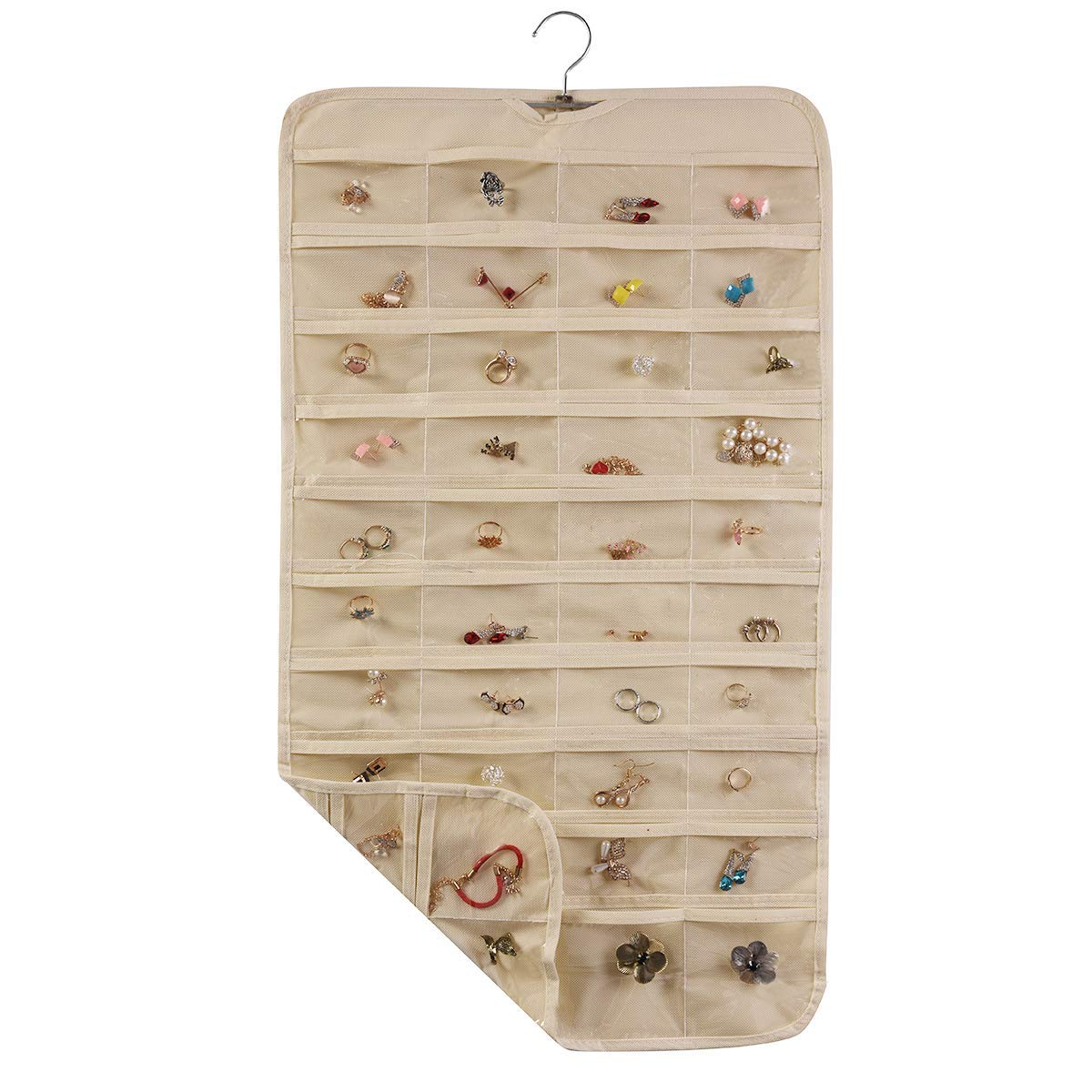 80 Pockets Jewelry Hanging Plastic Storage Bins In Home Custom Packaging Clothing Box Foldable Fabric Storage Box