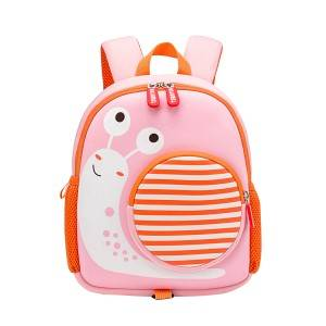 Girls kindergarten baby school bag princess shoulder snail backpack