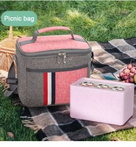 Chinese wholesale Picnic Bag And Blanket - Leakproof Reusable Insulated Cooler Lunch Bag – Office Work Picnic Hiking Beach Lunch Box Organizer with Adjustable Shoulder Strap for Women,Men &#...