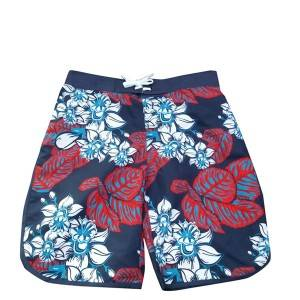Quoted price for China Custom Print Sublimated Polyester Beach Shorts Mens Swimwear