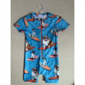 Children's sunscreen swimsuit cartoon cute boy swimsuit quick drying fabric