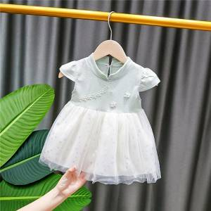 OEM/ODM Factory Kids Swimwear 2019 - Little Girls  Sleeveless  Casual Birthday Dress with Tutu Skirt – Tspringwater