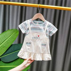Factory wholesale Organic Baby Swimwear - Baby Girls' Floral Border Halter Sundress – Tspringwater