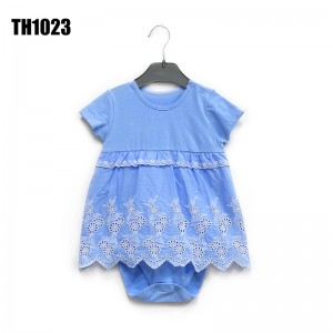 2021 Summer Short sleeve skirt Baby Dress Girls' one piece creeper