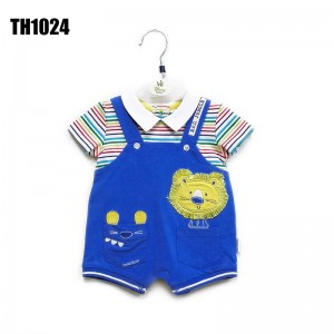 Newborn Baby Cotton Bag Fart Short-sleeve Triangle Romper+Shorts baby boy clothes sets