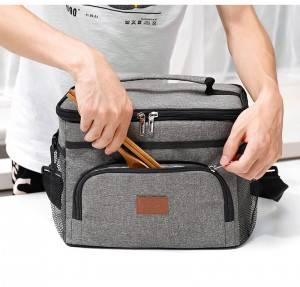 Top Quality Mens Travel Toiletry Bag - Lunch Bag, Large Durable Insulated Water Proof Cooler& Thermal Lunch Box for Women and Men, Fashionable Lunch Tote with Detachable Shoulder Strap for Wor...