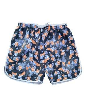 Quick Dry Sublimation Printed Mens Shark Swim Trunks