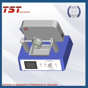 Synthetic blood penetration tester in masks or coated material