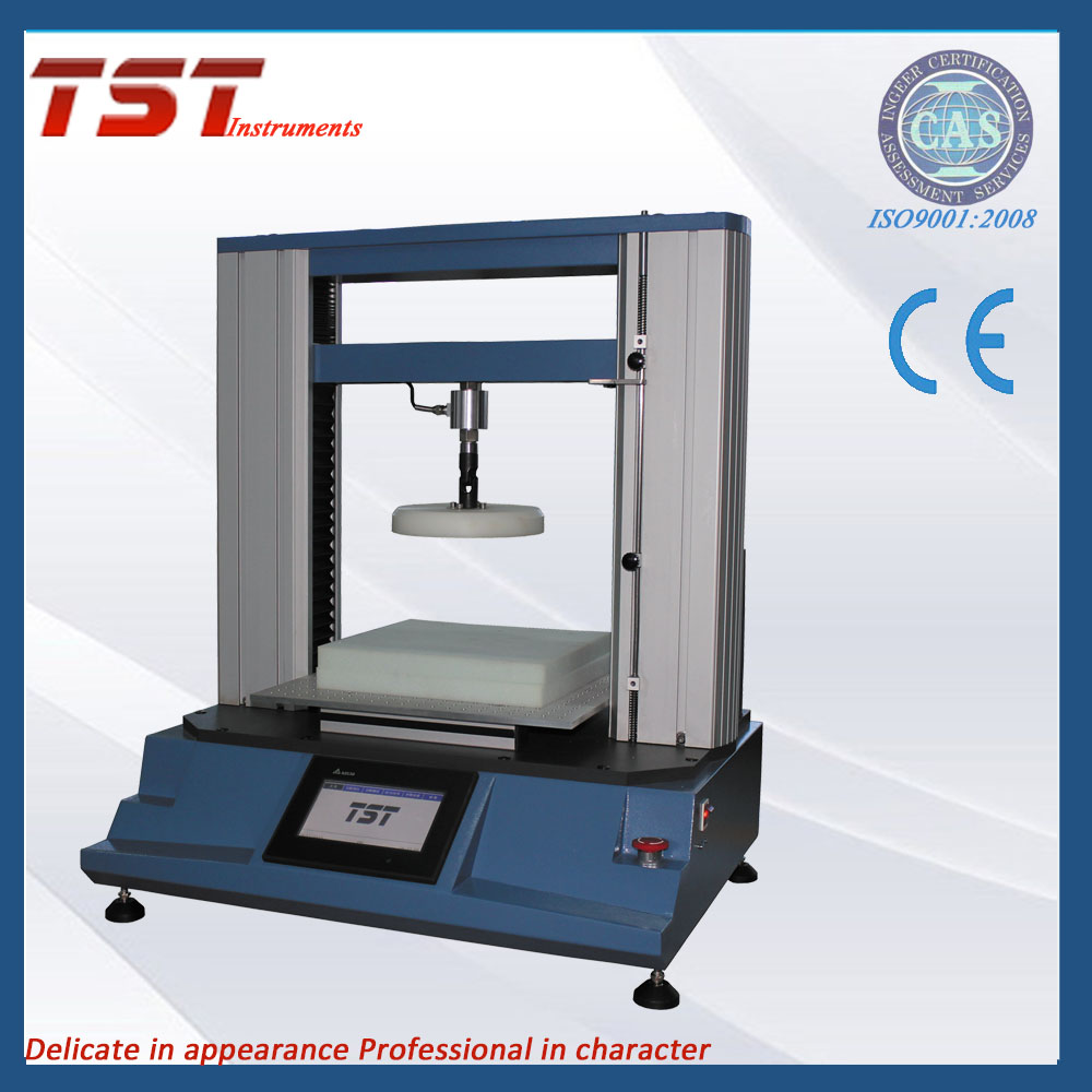 Foam hardness test by indentation methold