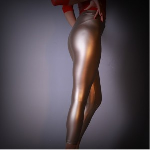 High elastic Casual Tight-fitting Pu Trousers