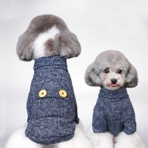 Dog Clothes Spring and Autumn Coat Two-legged Wholesale Sweater Puppy Pet Clothes Small Buttons Breathable