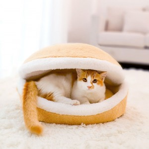 Pet Nest Hamburger Cat house Detachable Warm Pet House Dog House