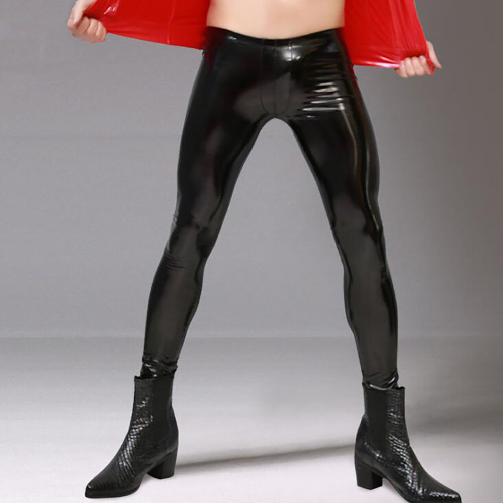 Spandex Latex Bottoming Casual Stage High Stretch Tights Featured Image