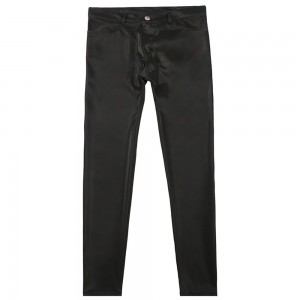 Large Size Men's Trousers, Low Waist, Elastic Leather Motorcycle Trousers, Pu leather Trousers and Slim Trousers