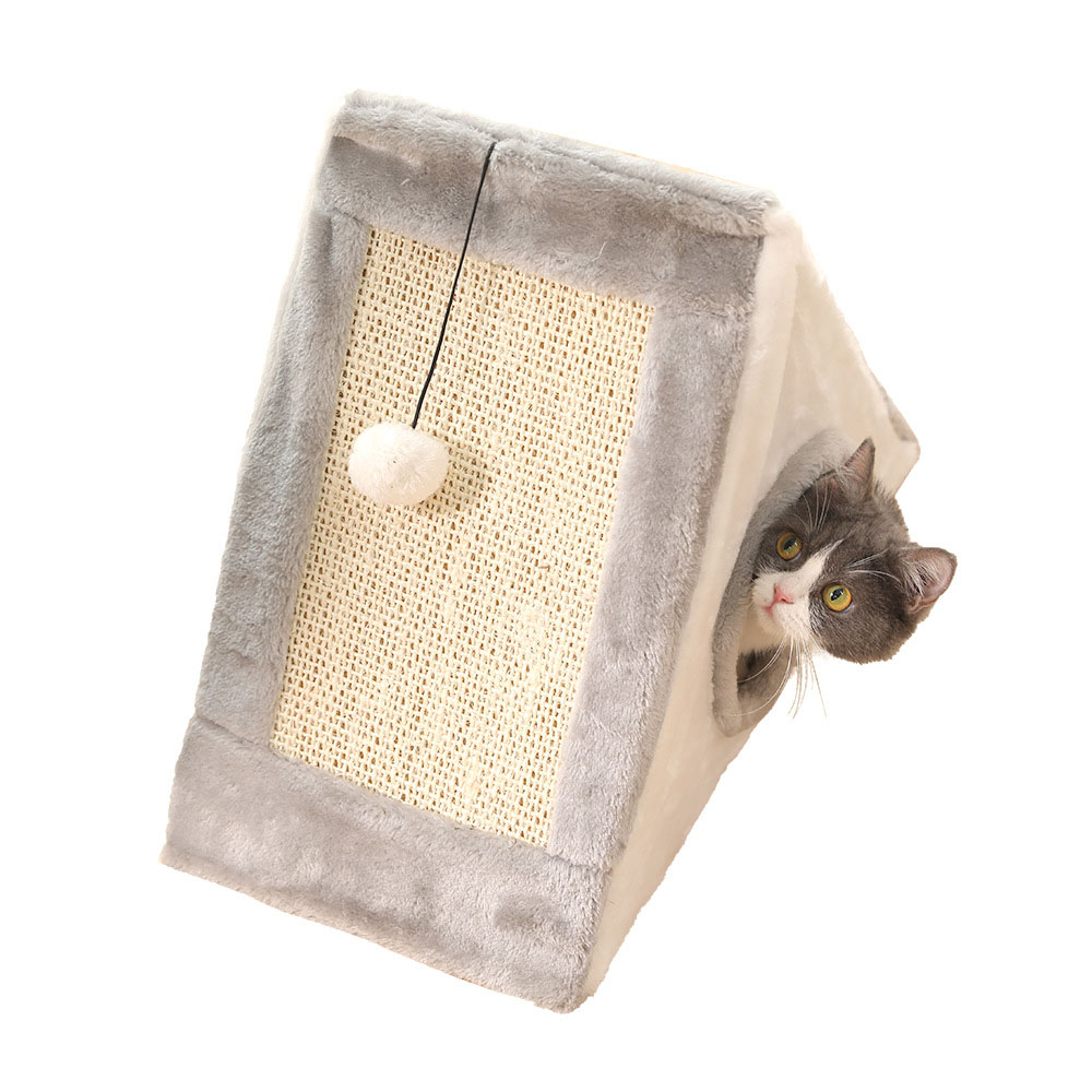 Cat Climbing Frame Cat Scratching Board Cat Grinding Claws Sisal Cat Scratching Board Cat Litter Cat Supplies Featured Image