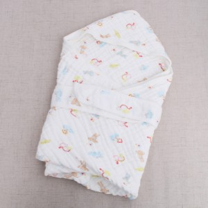 Discountable price Star Fleece Baby Wrap - Six Layers of Hooded Gauze Bath Towels Baby Cotton Yarn Wrapped by Newborns Summer Spring and Autumn Swaddling Cotton Blanket – MiaSein