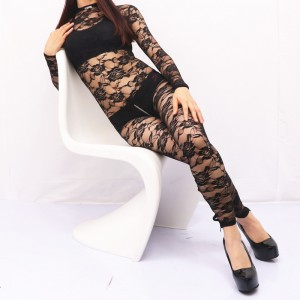 omen's Short-sleeved Lace Home Wear Corset Sexy Tight-fitting Full-body One-piece Base Coat