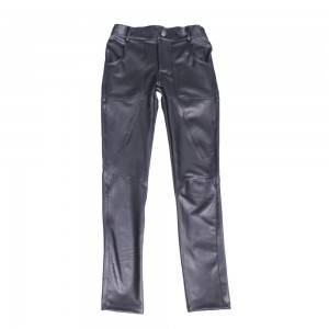 New Fashion Casual Pants Nk90 Men's Sheepskin Tight Leather Pants Feet Pants