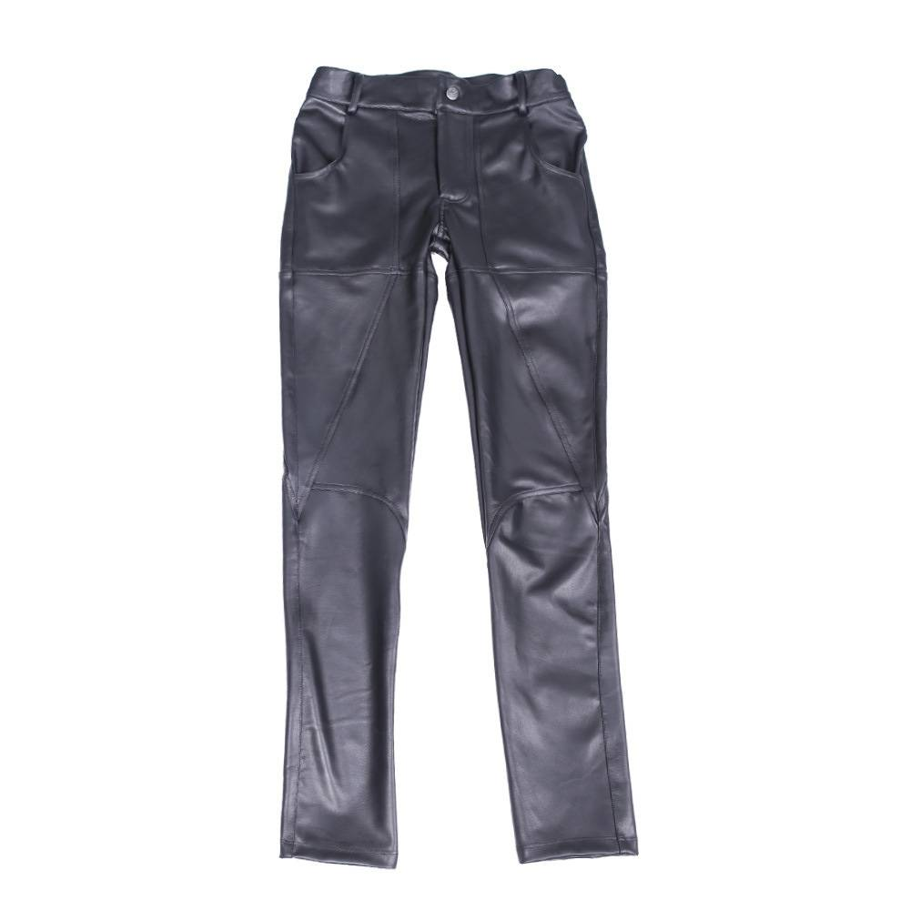 New Fashion Casual Pants Nk90 Men's Sheepskin Tight Leather Pants Feet Pants Featured Image