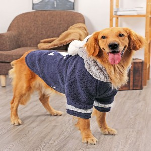 Big Dog Clothes Medium Sized Large Dogs Warm and Thick Cotton Padded Clothes in Autumn and Winter Big Pet Coat