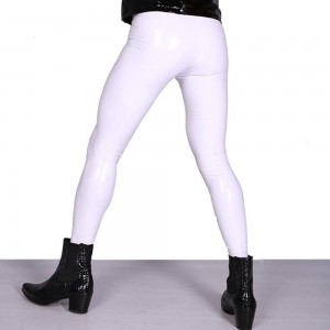 Spandex Latex Bottoming Casual Stage High Stretch Tights