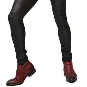 High Quality China Classical Style PU Leather pants
