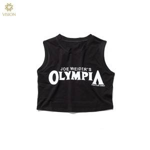 Factory best selling Women Crop Top T-Shirts - Women's Sleeveless Gym Shirt Basic Crop 60% Cotton 40% Polyester Tank Tops Running Singlet – Vision