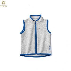Free sample for Blank Hoodies With No Labels - Ring Spun Cotton Spandex Baby Full Zipper Waistcoat Vest  – Vision