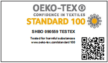 OEKO CERTIFICATE 2020 FOR LABEL FABRIC ITEMS