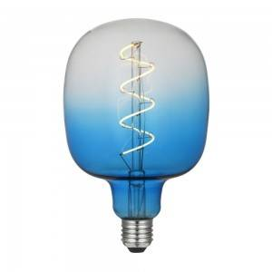E27 LED Dimmable Flexible Filament Bulb Sapphire Blue, Red Yellow  Moonstone Black Finish