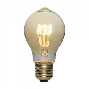 Flexible soft spiral filament led bulb A60 ST64 G125 Gold and Smoky decor bulbs