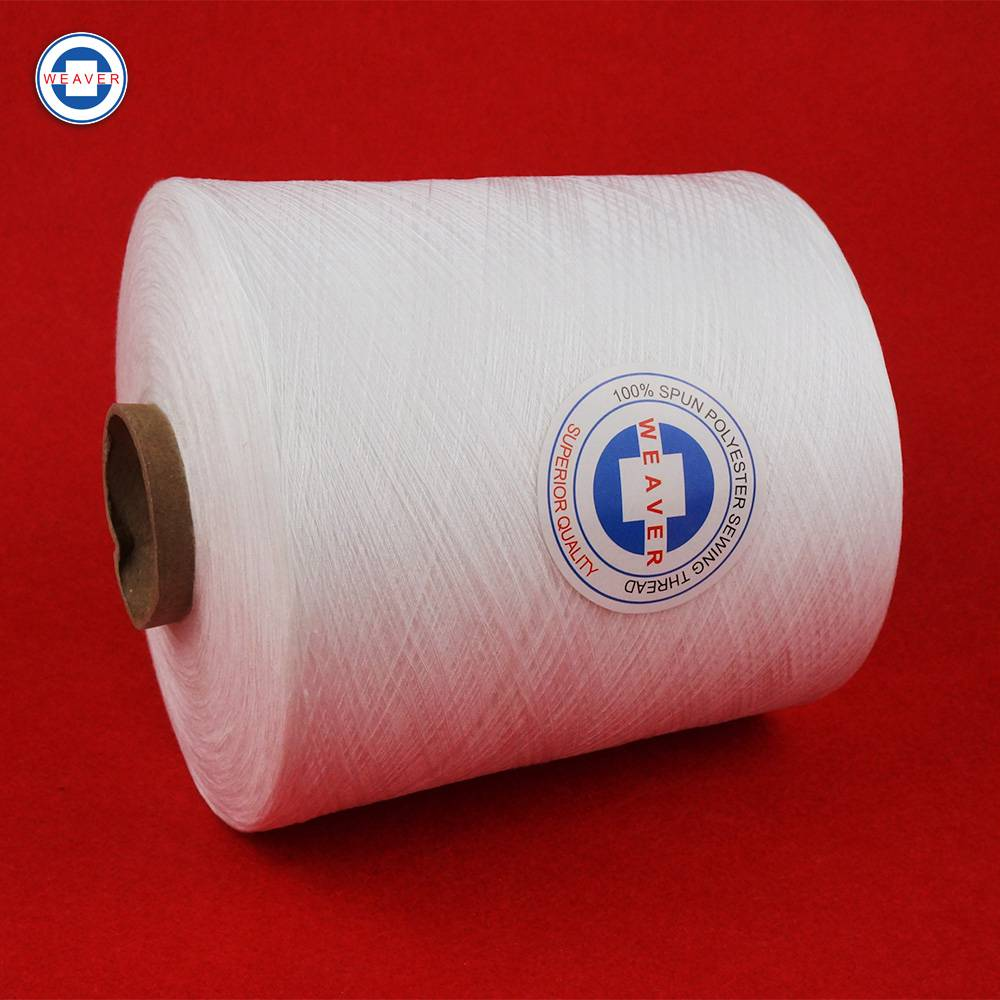 Raw white 50/2 polyester sewing thread manufacturer for bangladesh