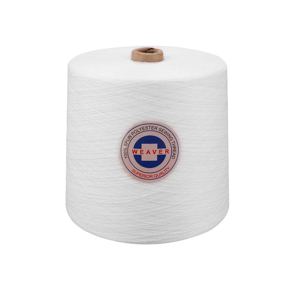Factory wholesale Poly Poly Core Sewing Thread - Raw white 50/2 polyester sewing thread manufacturer for bangladesh – WEAVER