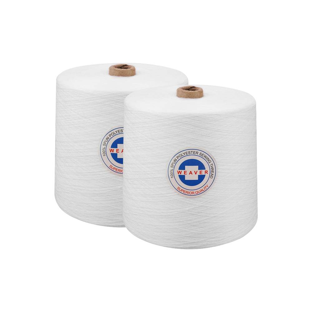 2018 China New Design 100% Spun Polyester Sewing Thread - Ne 40s/2 white 100% hilo poliester polyester yarn – WEAVER