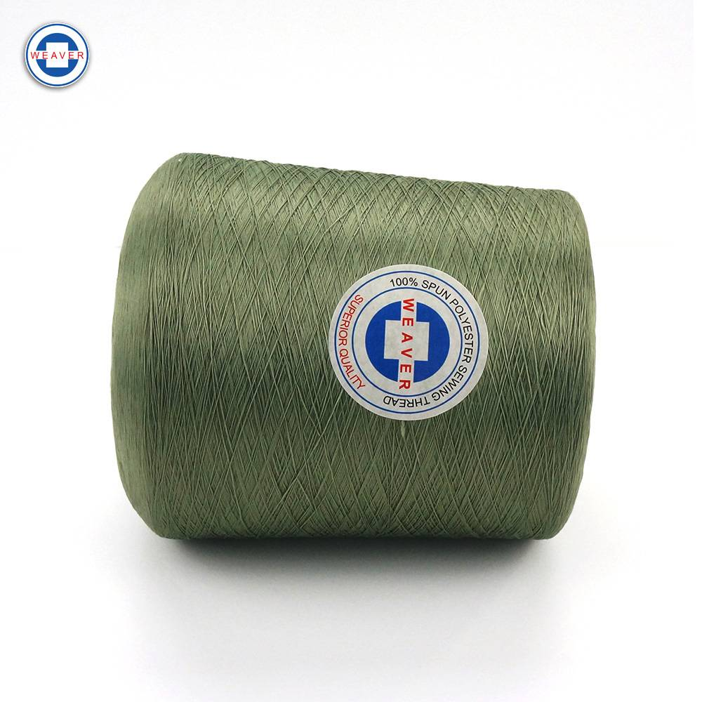 Factory Free sample Marine Sewing Thread - Dyed yarn 44/2 100% spun polyester sewing thread from China Manufacturer – WEAVER