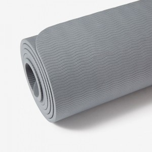 Premium 6mm Yoga Mat Reversible TPE Foam Non Slip w Carry Strap 72&quot