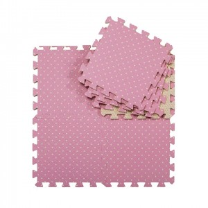 Comfortable floor sheet polka dot pattern foam interlocking judo tatami mat eva foam tatami
