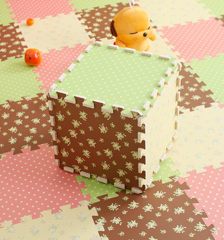 Factory direct Comfortable floor sheet polka dot pattern foam interlocking EVA judo tatami mat