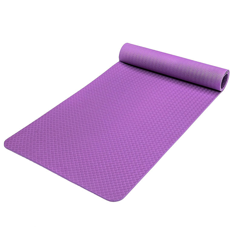 Factory wholesale colorful fitness washable TPE non slip yoga mat custom label