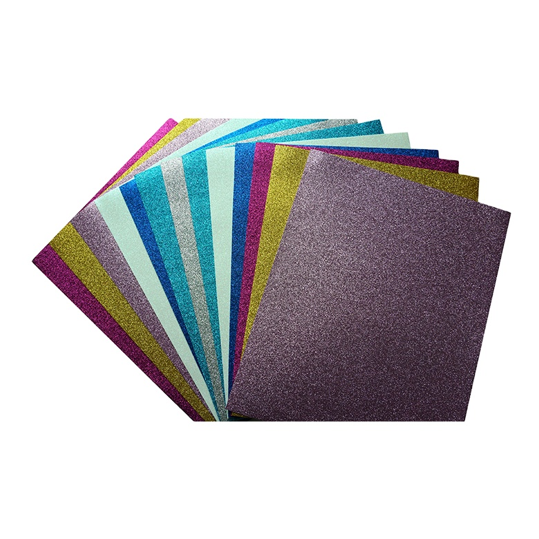 Hot selling colorful school craft camouflage printed glitter eva foam sheet