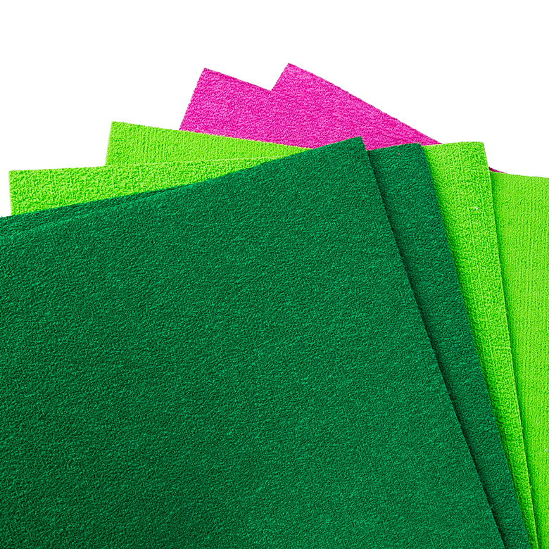 OEM Customized Floating Material - factory direct grass green furry flocking colorful non toxic eva  craft foam sheet – WEFOAM