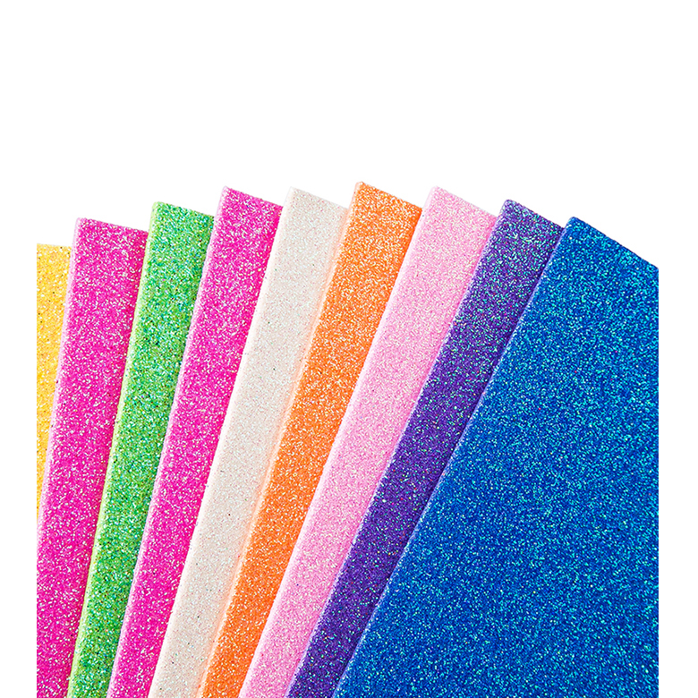 China OEM Shoe Raw Material Prices - Factory direct sale EVA Glitter Material for school craft – WEFOAM