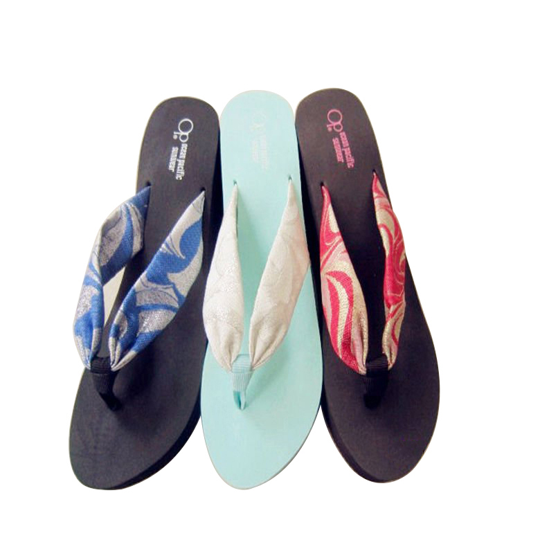 Best Price for Ladies Eva Footwear - Fashion high heel EVA slipper thick sole flip flops for women – WEFOAM