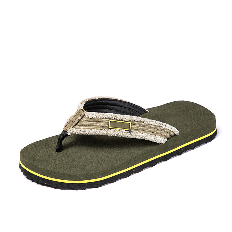 Low MOQ for Non Slip Slippers - Indoor Home Outdoor men slippers eva sole sandal green color flip flops – WEFOAM