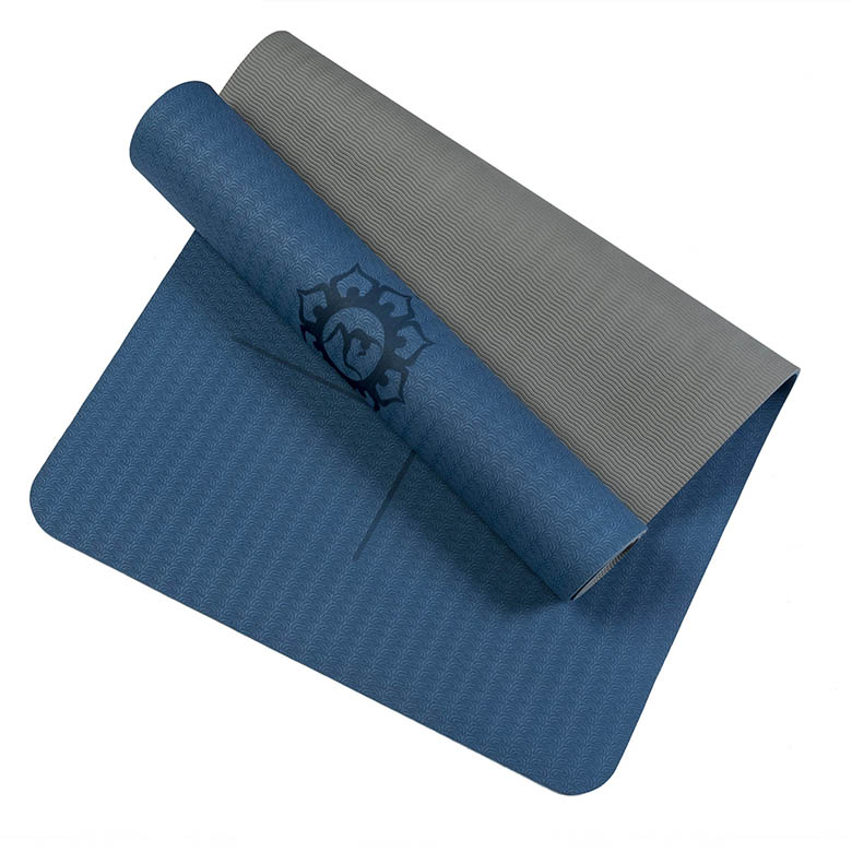 China factory direct Machine washable comfort superior materials non-slip body fit yoga mat blue