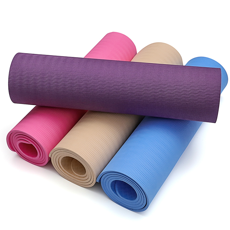 China supplier eco friendly high quality wholesale non slip non toxic workout skidproof tpe yoga mat