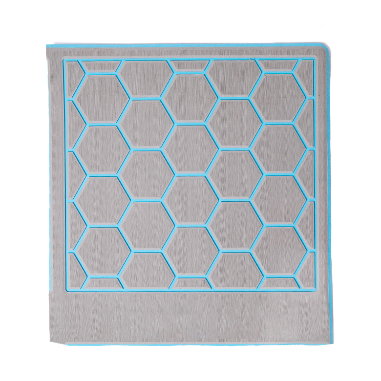 hexagon honeycomb blue and grey  marine flooring  eva foam boat yacht decking