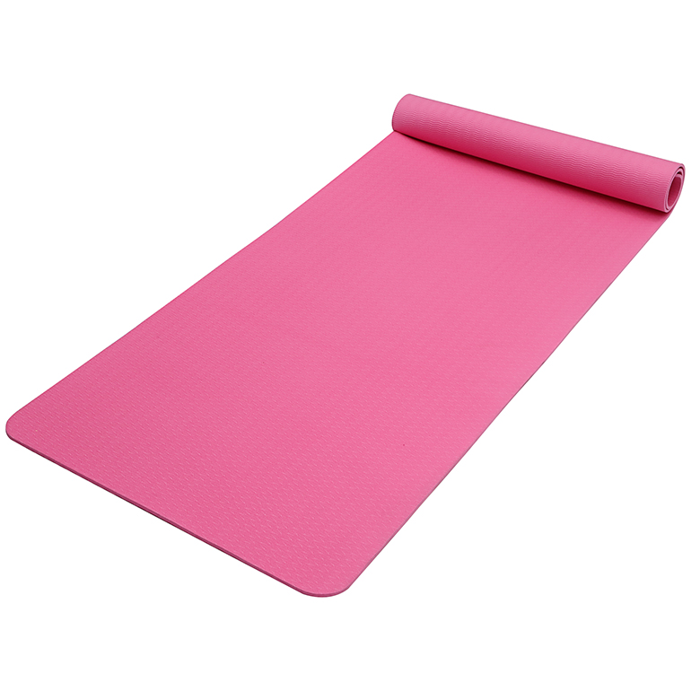Hot sale Big Size Yoga Mat - Personalize custom solid color non skid pink tpe wide yoga mat roll  logo printed mat – WEFOAM