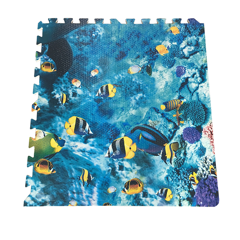 New Arrival China Mats For Knitting - Top popular new arrival eco-friendly EVA foam custom floor puzzle mat printed dolphin and tropical fish – WEFOAM