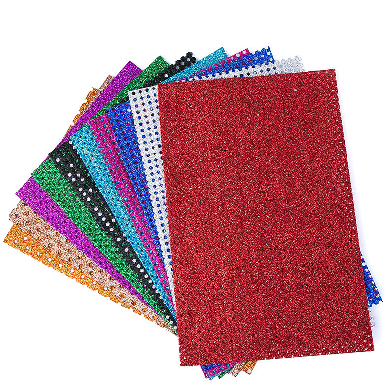 Hot selling multicolor breathable sheet glitter eva foam